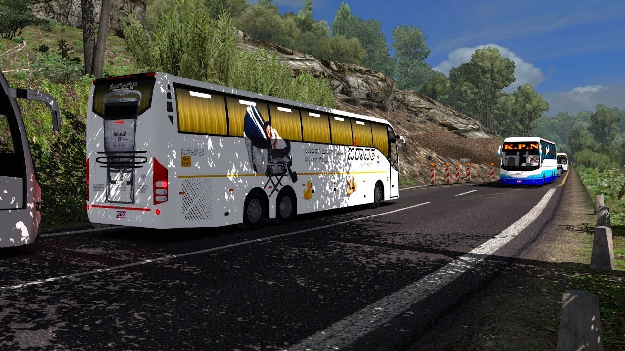 ETS2) Euro Truck Simulator 2 Indian Bus Mod   Game Play Videos